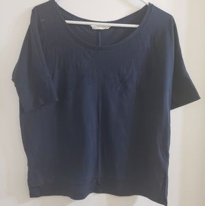XS Feather Burnout Tunic Tee